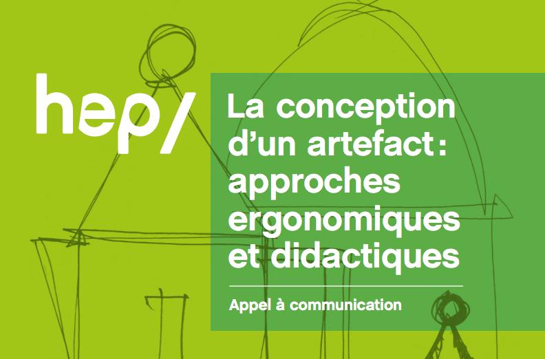 La conception d'un artefact : approches ergonomiques et didactiques